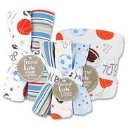 Trend-Lab Hooded Towel & Wash Cloth & Burp Cloth Set - Little MVP at Sears.com
