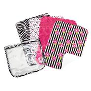 Trend-Lab 4 Pack Burp Cloth With Reusable Zipper Pouch- Zahara/Zebra at Sears.com