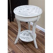 Carolina Cottage Vintage Cream Parisian Script Accent Table at Kmart.com