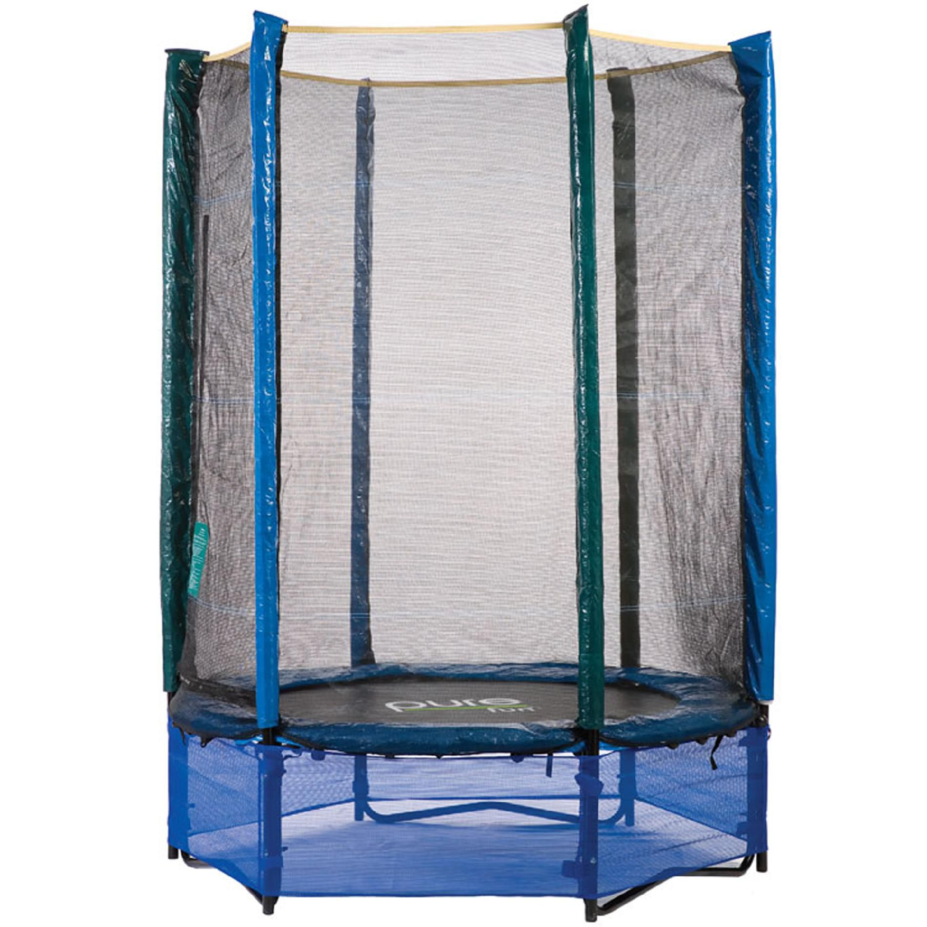 Pure Fun 55 Inch Kids Trampoline & Enclosure