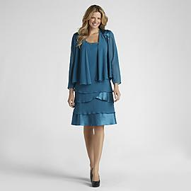 S. L. Fashions Women's Dress & Sheer Jacket at Sears.com