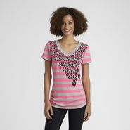 Joe by Joe Boxer Women's Striped V-Neck T-Shirt at Kmart.com