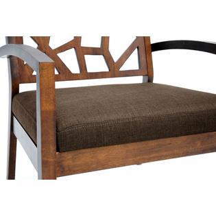 Baxton Studio Jennifer Modern Lounge Chair With Dark Brown