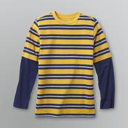 Basic Editions Boy's Striped Long Sleeve Layered T-Shirt at Kmart.com