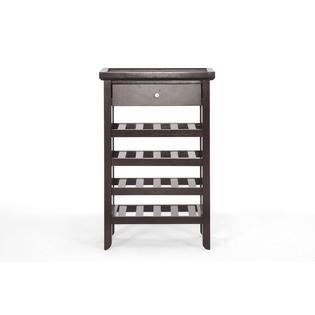 Baxton Studio Atlanta Dark Brown Wood Modern Wine Cabinet