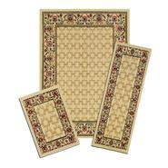 Capri Golden Lattice 3 Piece Area Rug Set at Kmart.com