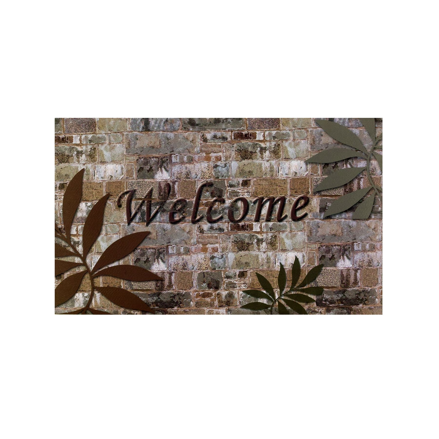 Achim Welcome Palms Outdoor Rubber Entrance Mat