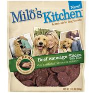 Milo's Kitchen Home-Style Beef Sausage Slices with Rice Dog Treats, 12.5 oz at Kmart.com