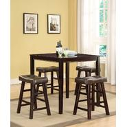 5pc Saddle Pub Set with Tufted Seats at Sears.com