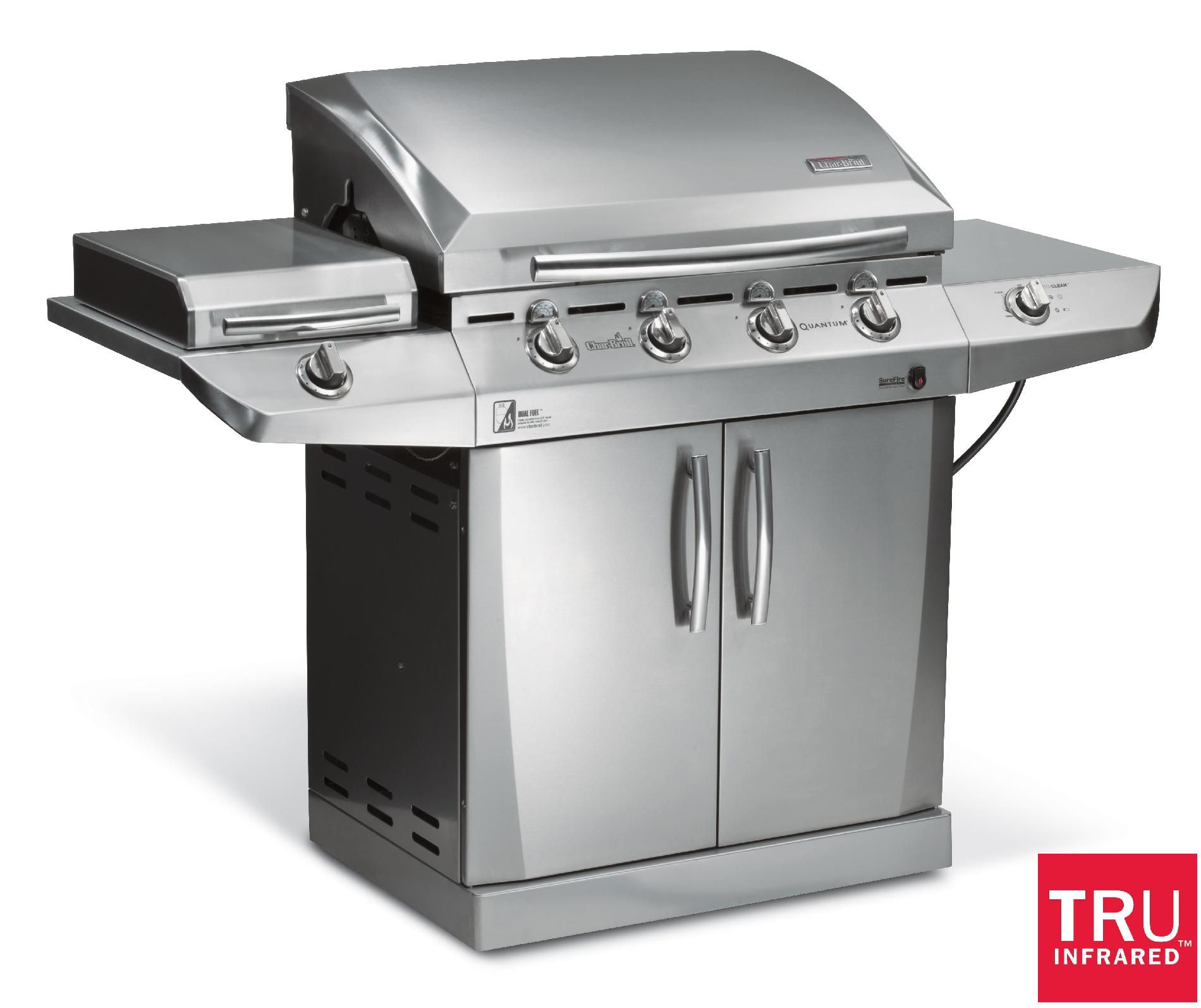 4-Burner-Infrared-Gas-Grill-with-Side-Burner-and-Auto-Clean*