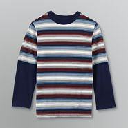 Basic Editions Boy's Striped Layered Look Shirt at Kmart.com