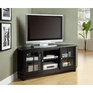 "Monarch Specialties Black Veneer Top 60""L Tv Console at Sears.com"