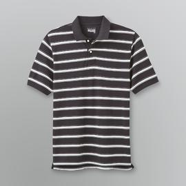 Basic Editions Men's Striped Pique Polo Shirt at Kmart.com