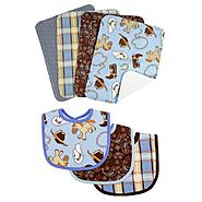 Trend-Lab Cowboy Baby - 7pc Bib & Burp Cloth Set by Trend Lab at Kmart.com