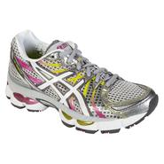 Asics Women's GEL-Nimbus 13 Running Athletic Shoe Wide Width - Silver/Pink/Yellow at Sears.com