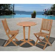 Amazonia Seoul 3 Piece Teak Wood Round Patio Bistro Set at Sears.com