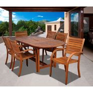 Amazonia Orlando 7pc Oval Eucalyptus Patio Dining Set at Kmart.com