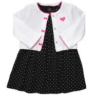 Carter's Girl's Infant Dress/Cardigan 2pc Set Dotted Black at Sears.com