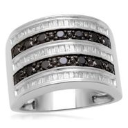 1 cttw Black and White Diamond Ring in Sterling Silver at Sears.com