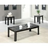 Monarch Specialties Grey Marble / Black 3pcs Promotional Table Set at Kmart.com