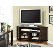 "Monarch Specialties Dark Walnut Veneer 60""L Corner Tv Console at Sears.com"