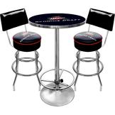 Trademark Global Ultimate Miller Genuine Draft Combo 2 Stools w/ Back & Table at mygofer.com