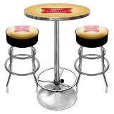 Trademark Global Ultimate Miller High Life Combo - 2 Bar Stools and Table at mygofer.com