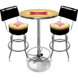 Trademark Global Ultimate Miller High Life Combo 2 Stools w/ Back & Table at mygofer.com