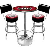 Trademark Global Ultimate Killians Gameroom Combo 2 Stools w/ Back & Table at mygofer.com