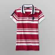 US Polo Assn. Junior's Big Logo Striped Knit Polo at Sears.com