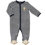 Carter's Newborn Sleepwear Long Sleeve Footed Monkey Sleeper Striped Navy at Sears.com
