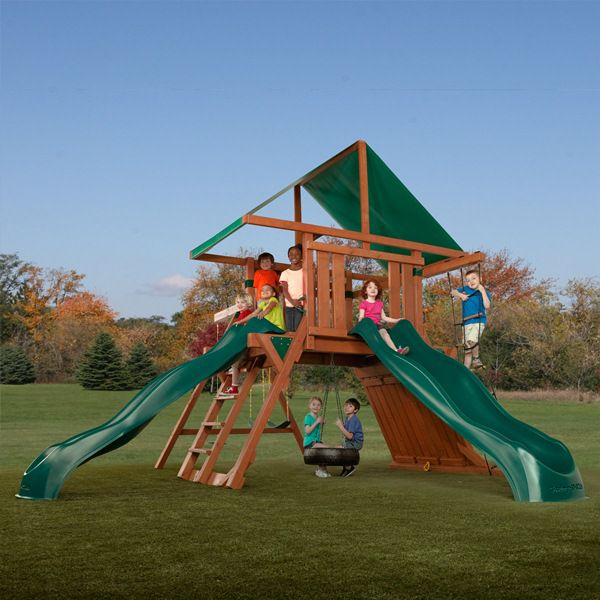 Adonis Redwood Swing Set
