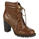 Bongo Women's Compass Lace-Up Bootie - Camel at mygofer.com