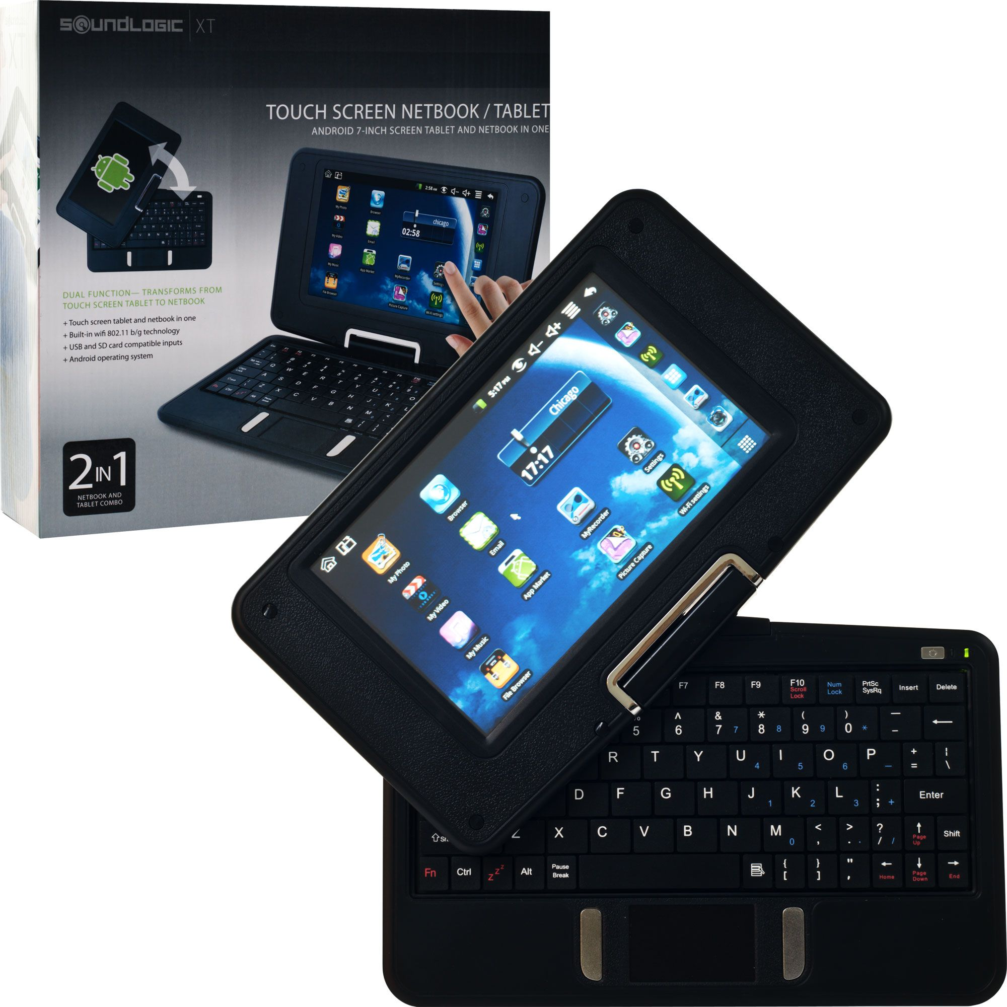 Android 2.3 7 inch 2 in 1 Swivel Netbook and