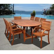 Amazonia Jamaica 9 pc Eucalyptus Oval Dining Set at Kmart.com