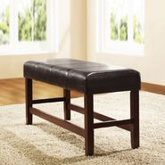 Oxford Creek Dark Brown Bi-cast Vinyl Bench at Kmart.com