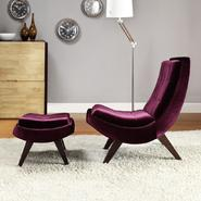 Oxford Creek Purple Velvet Chair & Ottoman at Kmart.com
