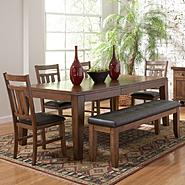 Oxford Creek 6pcs Oak Finish Butterfly Leaf Dining Set at Kmart.com
