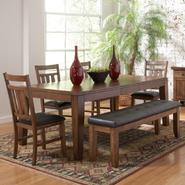 Oxford Creek 6pcs Oak Finish Butterfly Leaf Dining Set at Sears.com