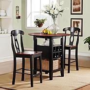 Oxford Creek 3pcs Black and Cherry Bistro Set at Kmart.com