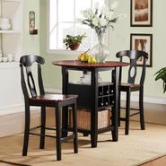 Oxford Creek 3pcs Black and Cherry Bistro Set at Sears.com