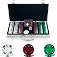 Trademark Poker 300 14g Tri Color Ace/King Suited Chips in Aluminum Case at Kmart.com
