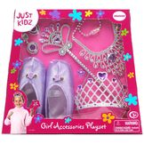Just Kidz 8pc Soft Slippers Girls Playset - Purple at mygofer.com