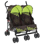 Mia Moda Facile Twin Stroller in Brown/Green at Kmart.com