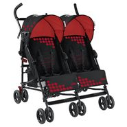 Mia Moda Facile Twin Stroller in Black/Red at Sears.com