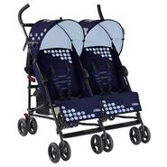Mia Moda Facile Twin Stroller In Navy/Blue at Kmart.com