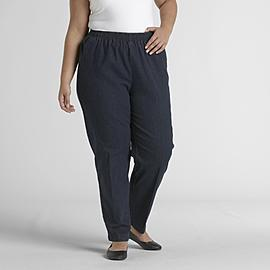 Laura Scott Women's Plus Denim Stretch Pants at Sears.com