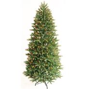 7.5 Ft Multi-Color Pre-Lit Frasier Fir Slim Artificial Christmas Tree at Kmart.com
