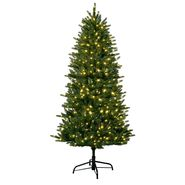 6.5 Ft White LED Pre-lit Single Plug Artificial Pine Christmas Tree at Kmart.com