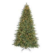 7.5 ft. Pre-Lit Noble Pine Artificial Christmas Tree with Clear Lights at Kmart.com